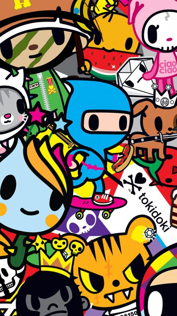 Collection Of 50 Irresistible Hd Wallpapers For Your Iphone 5 Tokidoki Characters Tokidoki Retro Illustration Cool cartoon hd wallpapers