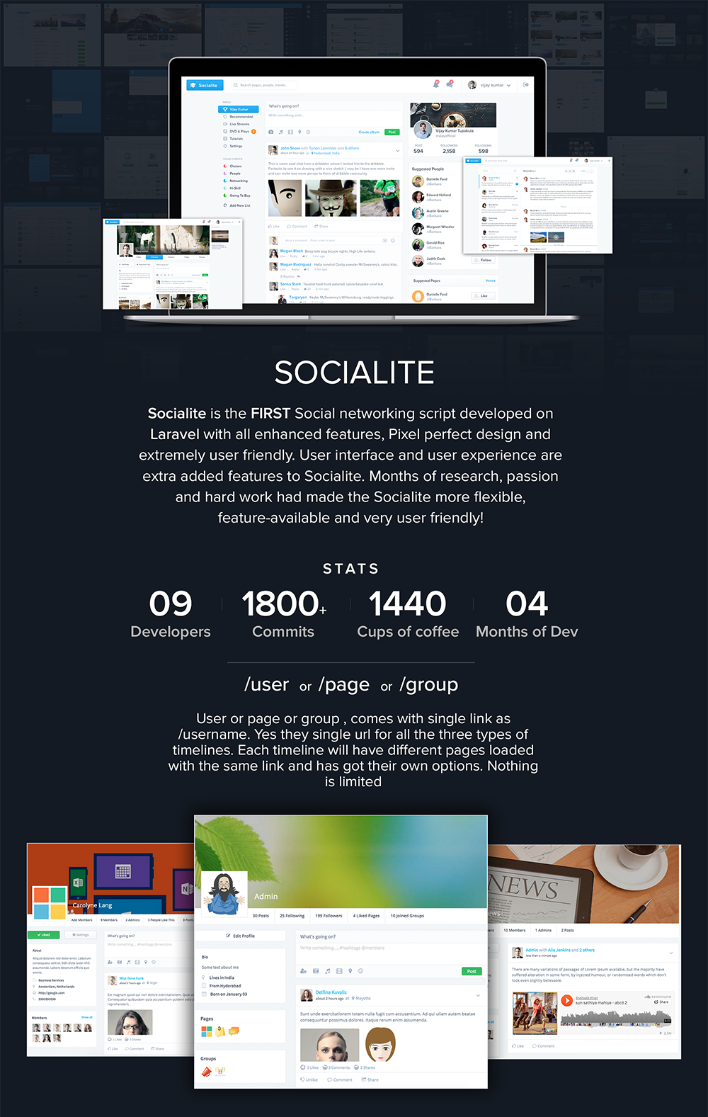 Socialite - Laravel Social Network Script | Code, Plugins