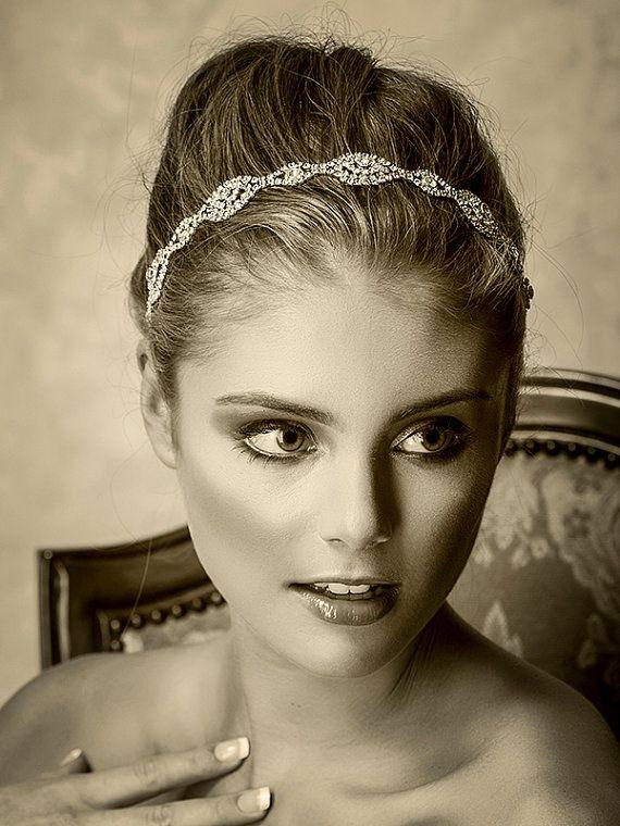 Braut Haarschmuck Swarovski Crystal Stirnband von ...