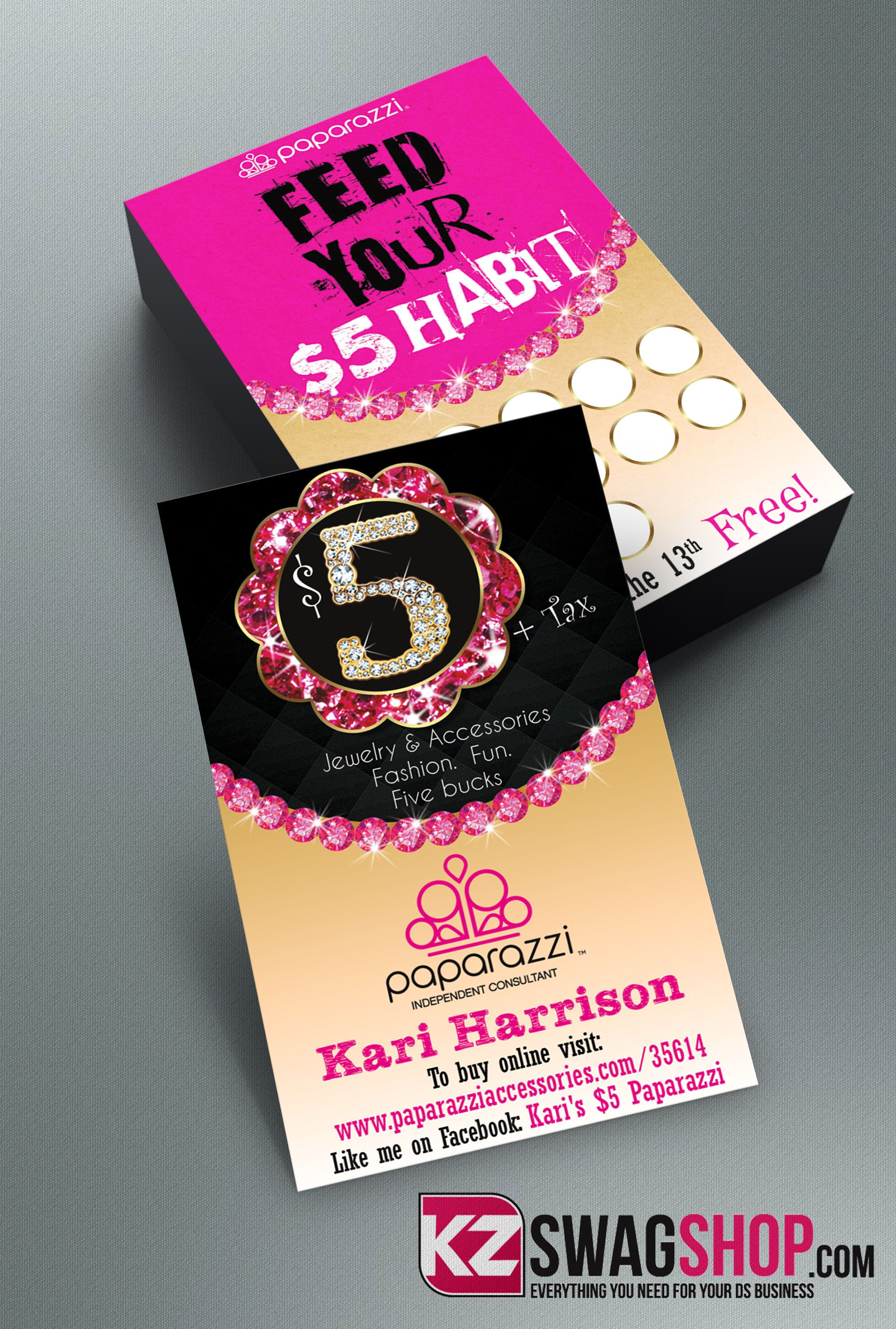 Paparazzi Business Cards style 11 from KZ Creative Services
