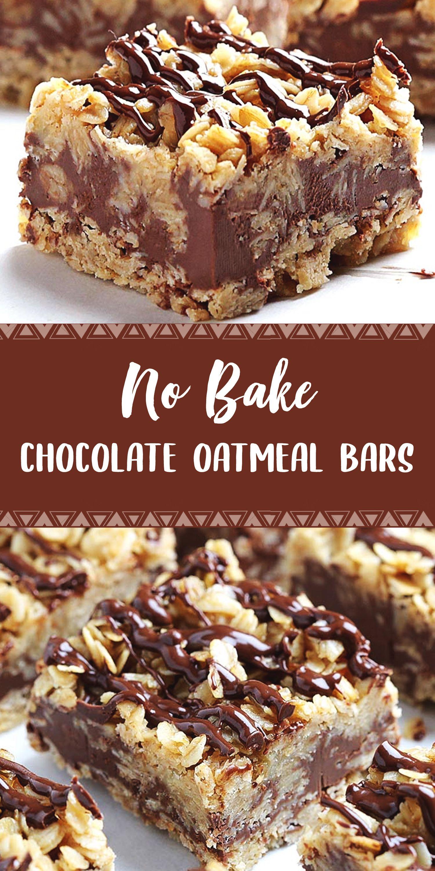 No Bake Chocolate Oatmeal Bars Chocolate Oatmeal Bars Chocolate