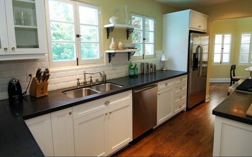 Jeff Lewis can even make galley kitchens work. | Lovely Kitchens ...