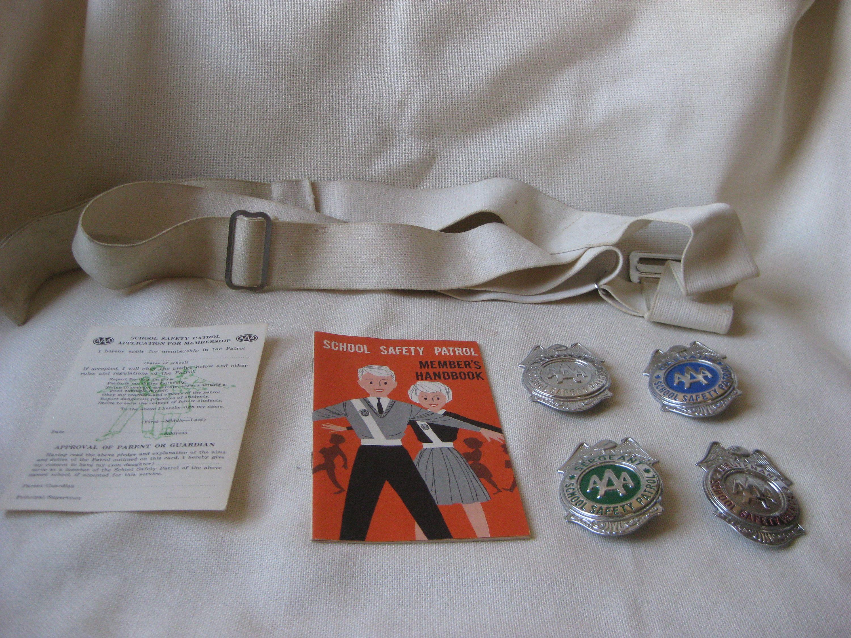 Vintage AAA School Safety Patrol Badge and Handbook YOU