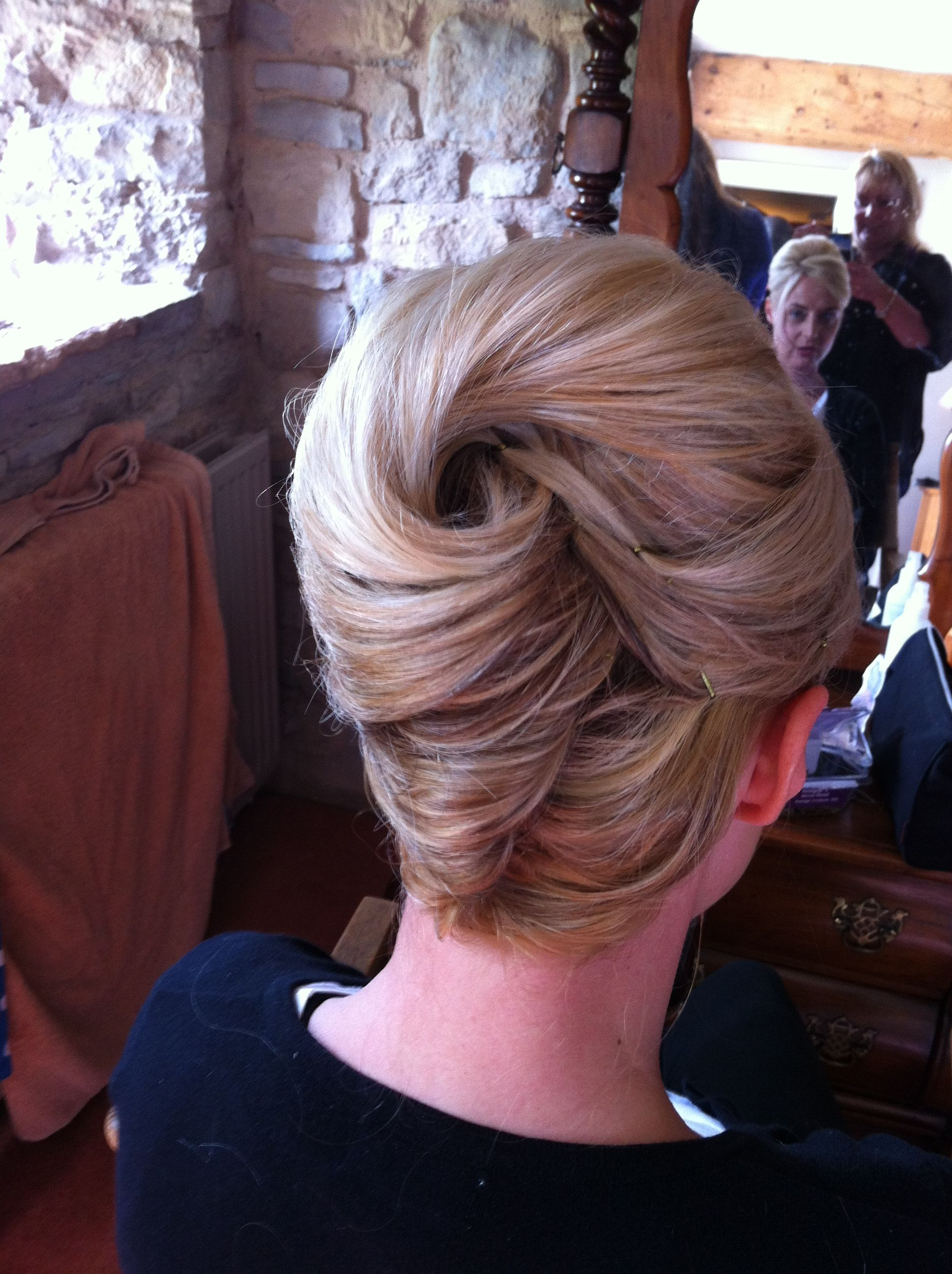 french pleat  Mother of the bride hair, Hair styles, Bridesmaid