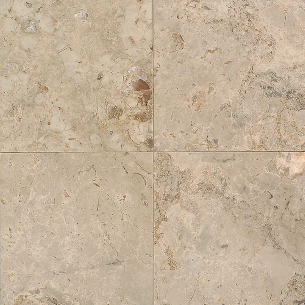 Daltile Napolina 12 in. x 12 in. Natural Stone Floor and Wall Tile ...