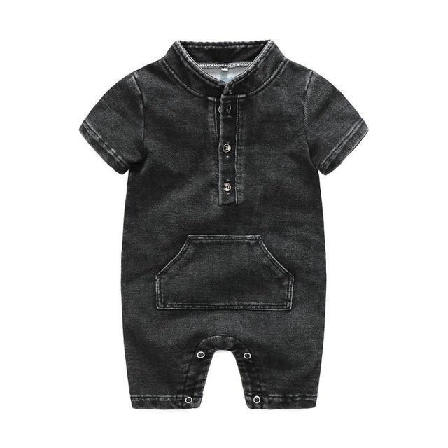 a0a918535f2a Kimocat Baby Boys Hooded Romper Newborn boys Clothes Solid Black ...