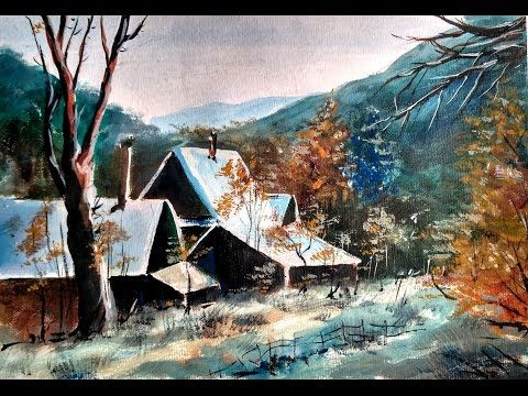 Light and shadow watercolor landscape painting | Paint with david ...