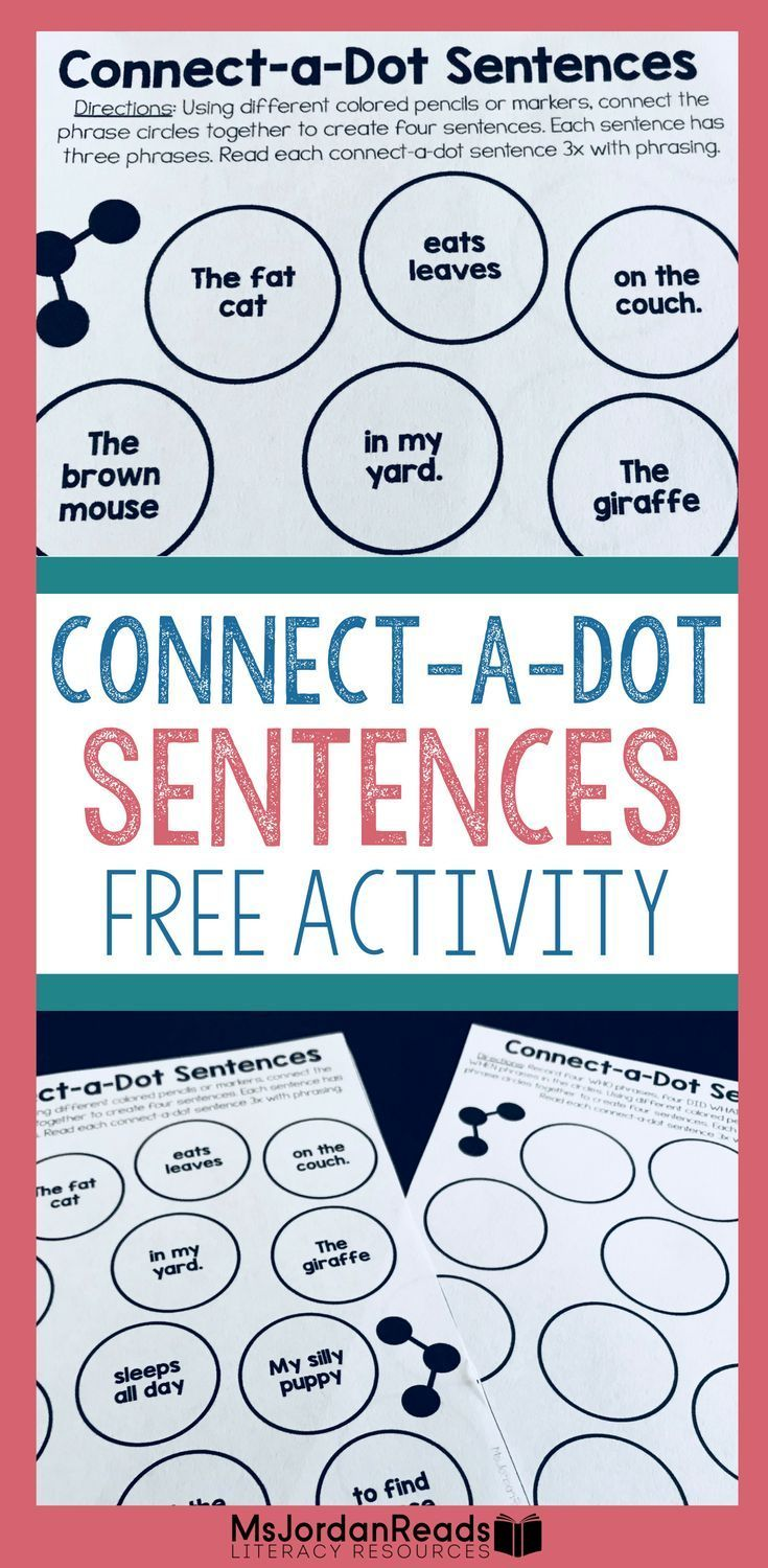 Connect A Dot Sentences Fluency Phrasing Sentence Building Practice Teaching Writing Writing Resources Reading Intervention [ 1500 x 735 Pixel ]