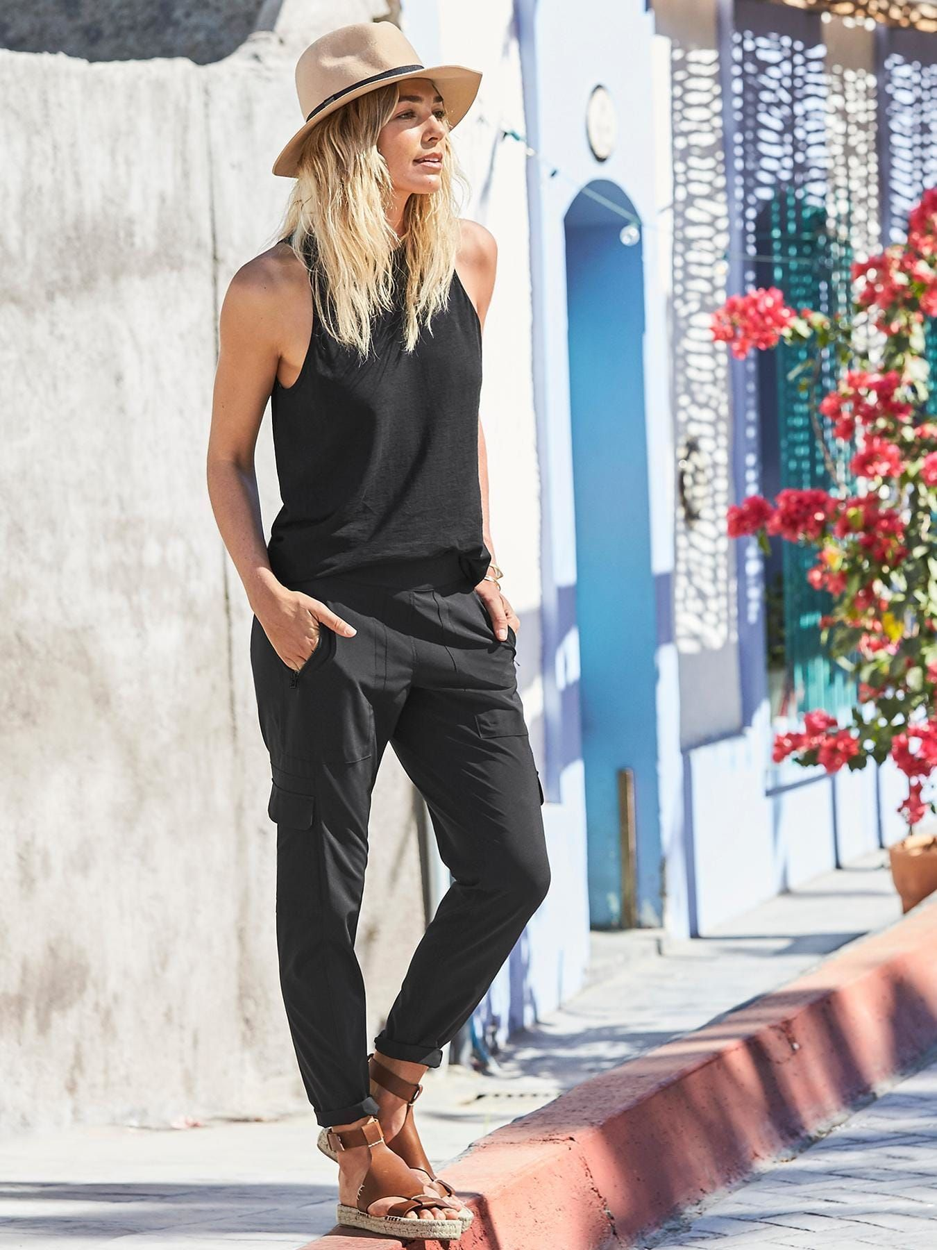 2ce2c3e09be The adventure-lover s ultimate pant made from our performance Featherweight  Stretch™ fabric with a tapered leg that hits at the ankle