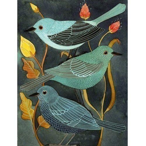 Three Little Birds par Geninne sur Etsy