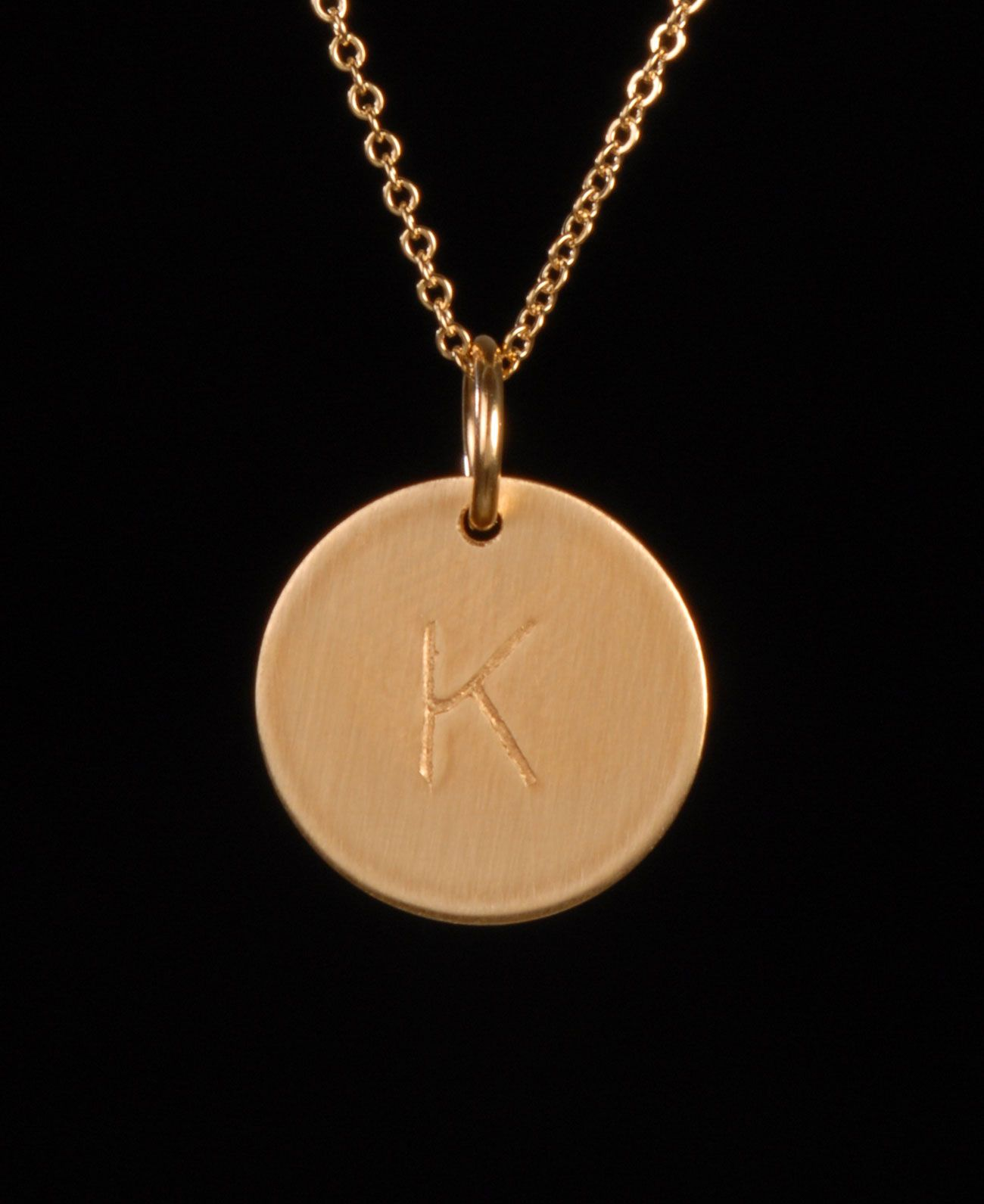 Nashelle D Initial Disc Necklace Charm Gold IOuag9q
