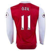 16-17 Arsenal Football Shirt Long Sleeve Home Cheap OZIL #11 Replica Jersey