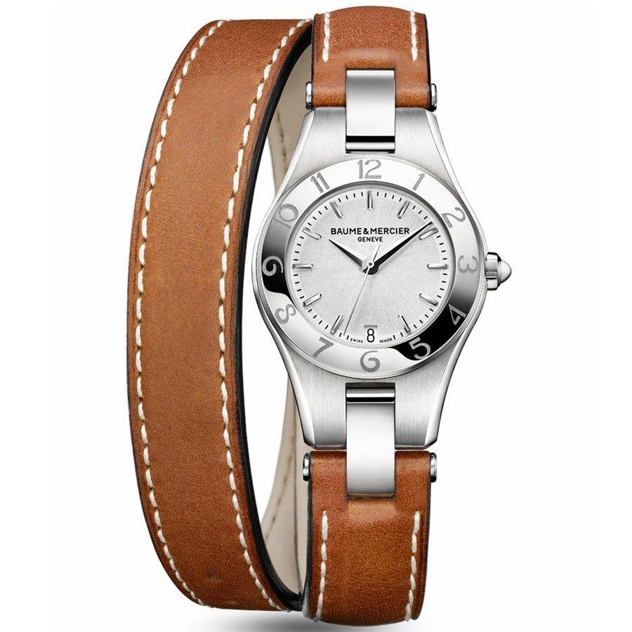 Exceptionnel Baume et Mercier Linea quartz bracelet cuir double tour 10036  DY94