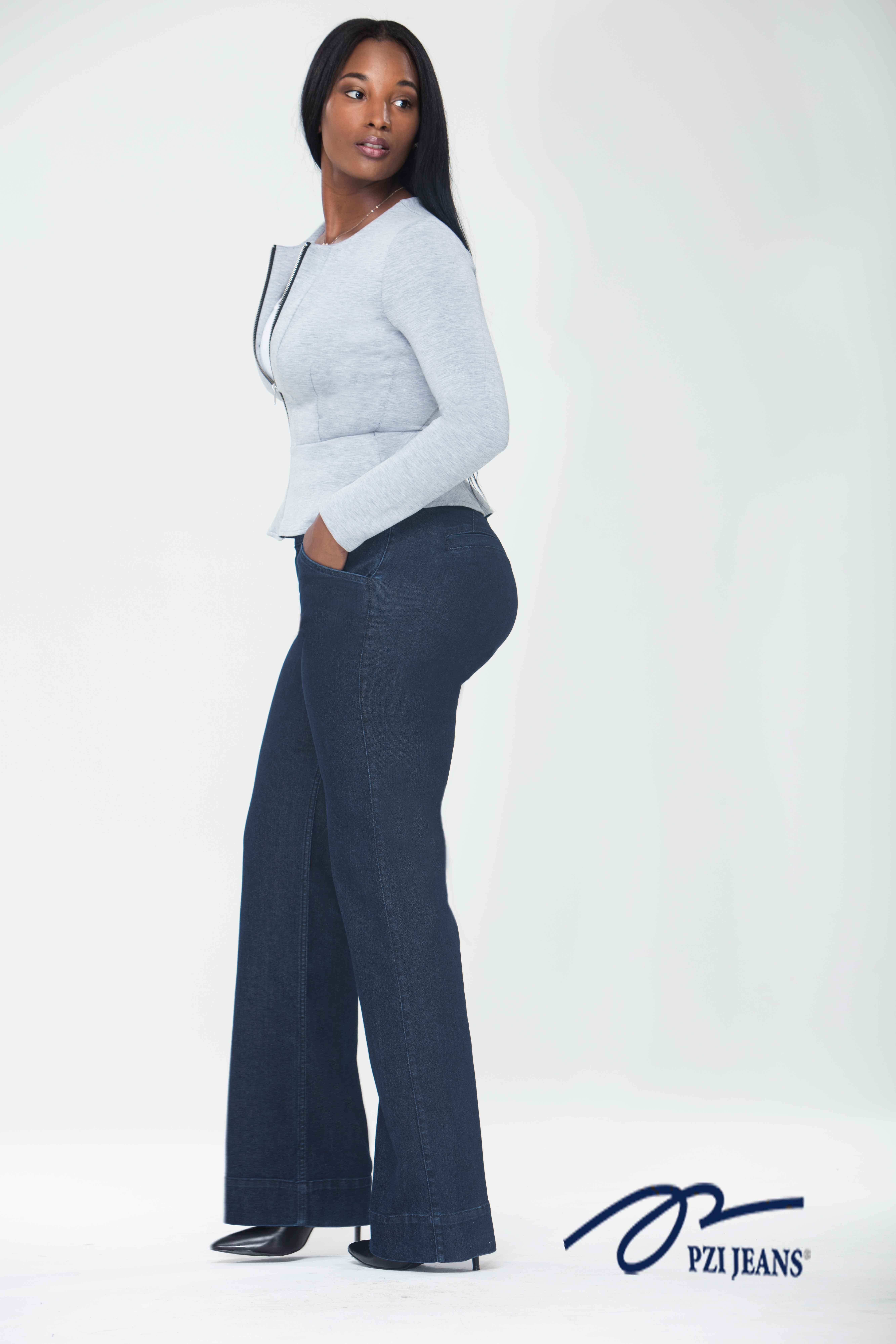 8a4ad71bd375b3 Shop for your curves and choose the Rachel Trouser perfect for work or date  night. Available in sizes 4-18; short-extra long inseams. #pzijeans #denim  ...
