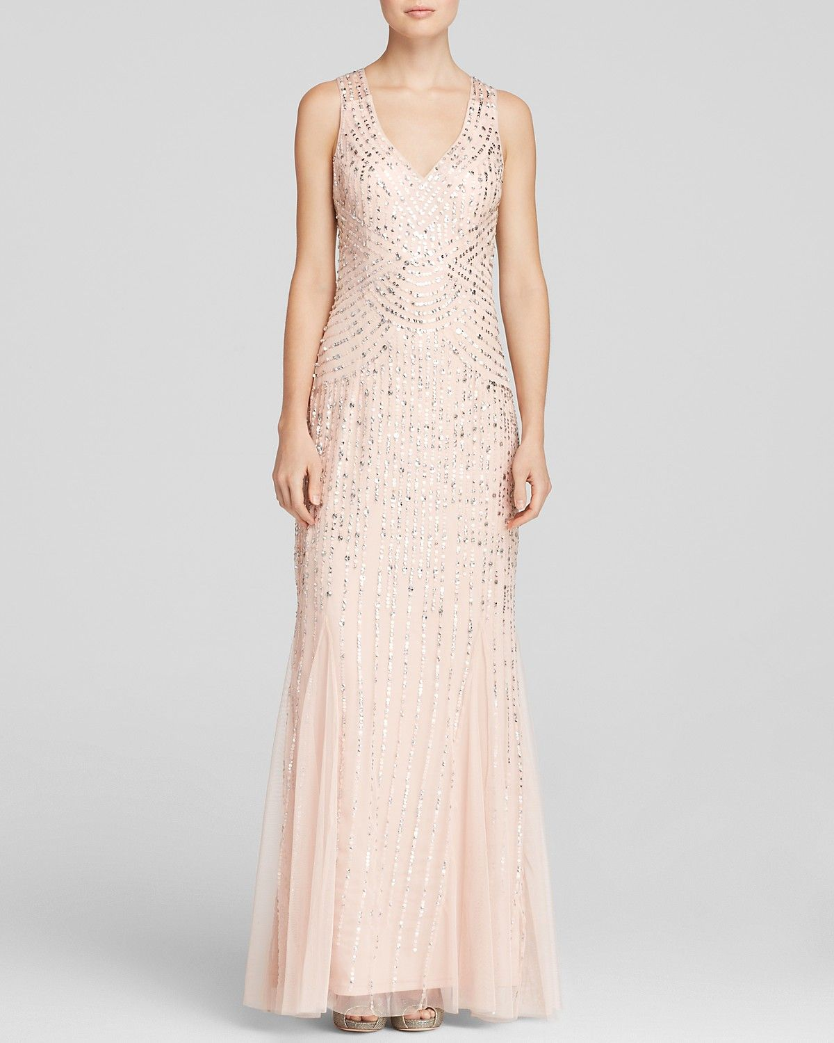 Aidan mattox gown sleeveless v neck beaded godet aidan mattox gown sleeveless v neck beaded godet bloomingdales ombrellifo Images
