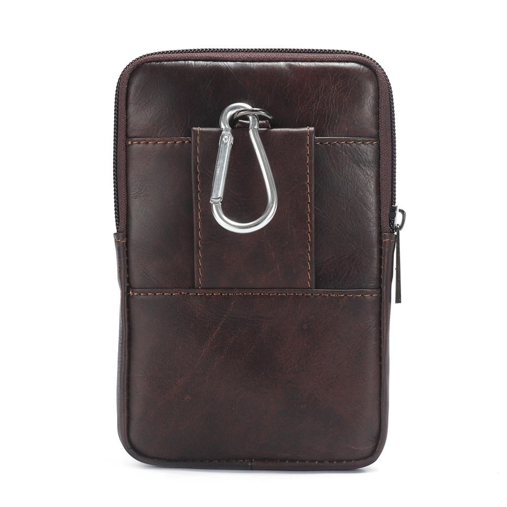 aa715d12ab1d Ekphero Men Cowhide Phone Bag Waist Bag Vintage Belt Bag in 2019 ...