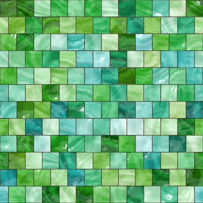 shiny seamless green tiles texture