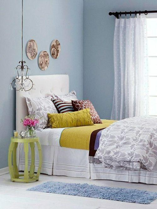 Farbgestaltung Fürs Jugendzimmer U2013 100 Deko  Und Einrichtungsideen    Gestalten Farben Frissch Nebentisch Bett Mädchen Zimmer