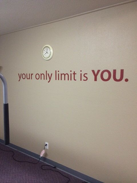 Home Office Decor Gym Decor Classroom Decor Your Only Limit is YOU Wall Decal