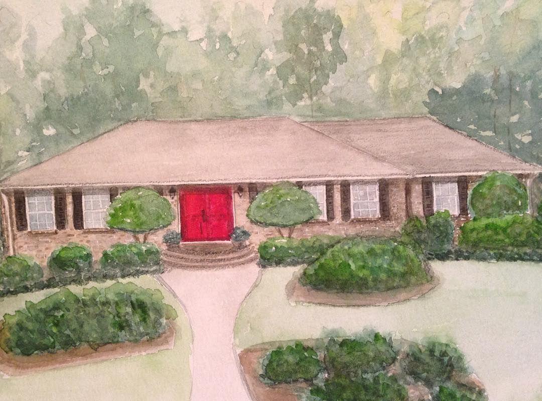 Original Home Watercolor Painting - Custom House Portrait ...
