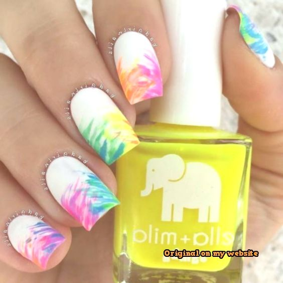 Nail Art Summer 2019 - Easy Nail Art Designs - Dry Brush ...