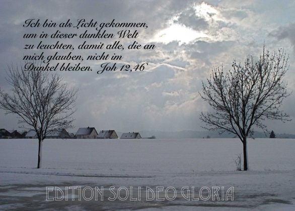 christliche Postkarte 41, Johannes, Weihnachtskarte, Schnee ...