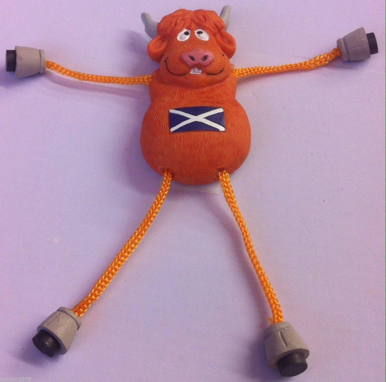 Scottish Highland Cow and Piper Dangle Leg and Arm Fridge Magnet | eBay