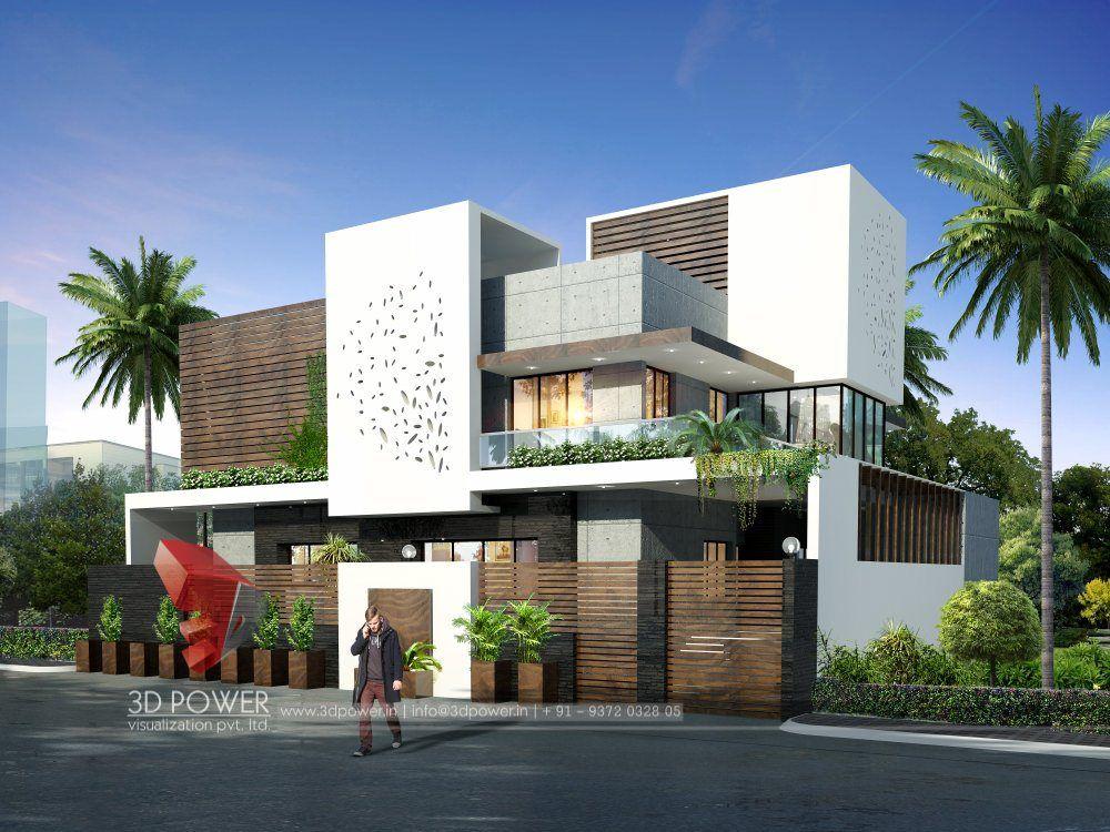 3D Bungalow Design Service Providers Modern bungalow