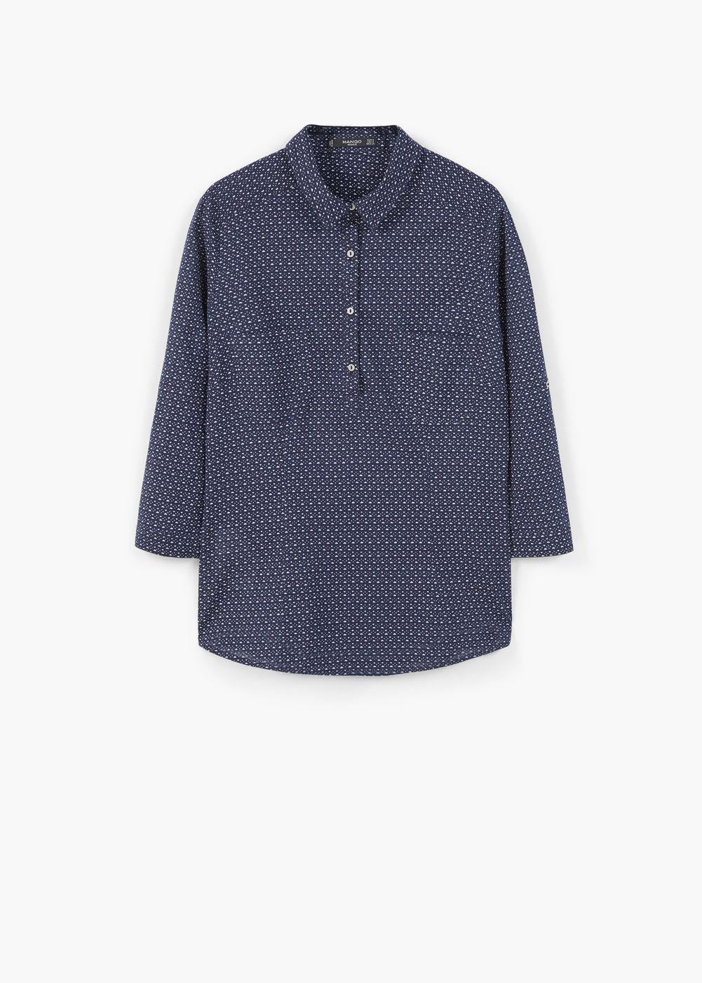 Camisa algodão estampada | MANGO