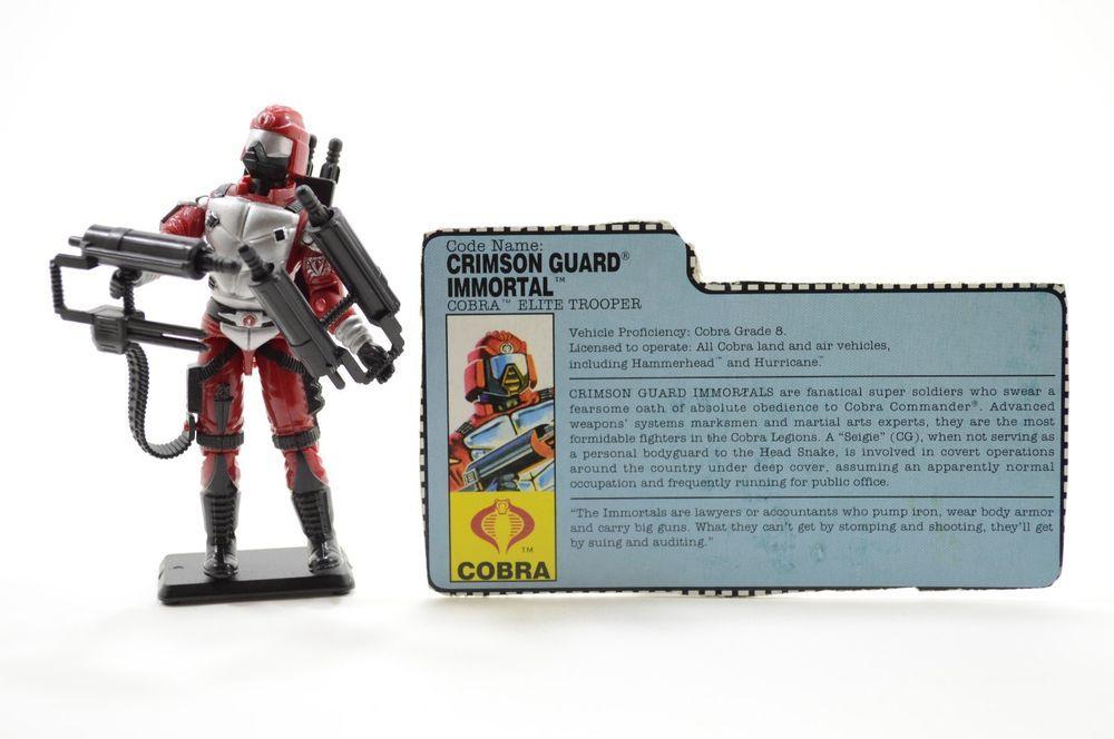 Vintage Cobra GI Joe 1991 Crimson Guard Immortal 100