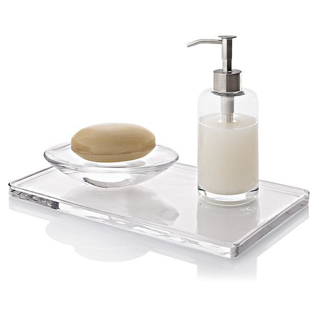 glass vanity tray crate and barrel - Bathroom Accessories Vanity Tray