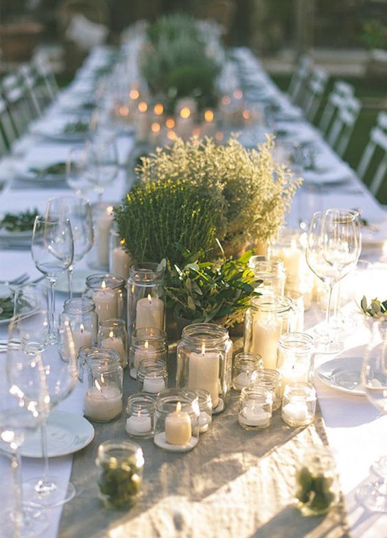 Beach Weddings Wedding Dresses Table Centerpieces Destination Vineyard Bridal Herbs Rustic Theme