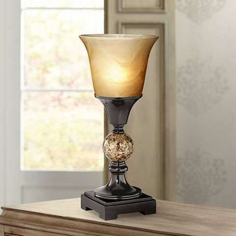 George Antique Alabaster Glass 13 1 2 High Table Torchiere 6h202 Lamps Plus Antique Table Lamps Lamp Table Lamp