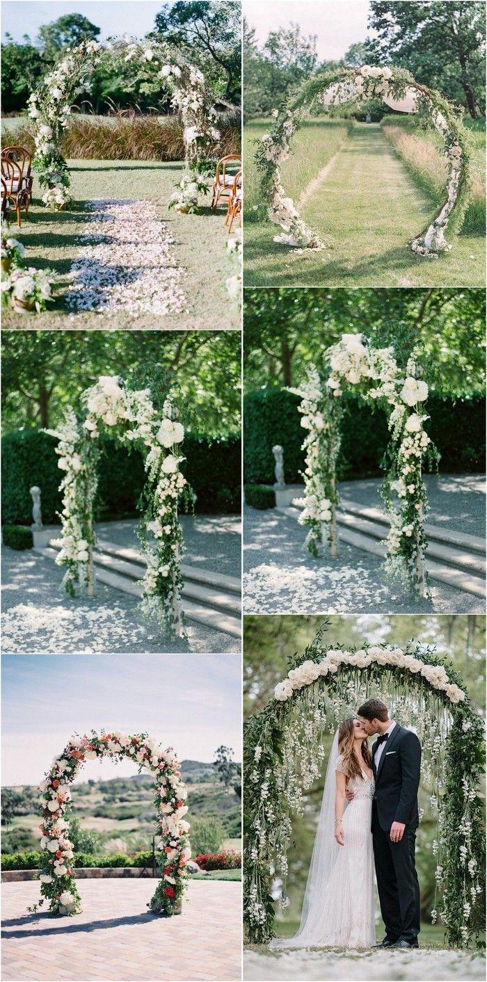 20 Prettiest Floral Wedding Arch Decoration Ideas