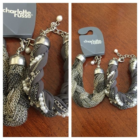 2 Beautiful bracelets 2 beautiful bracelets that will go with any outfit Charlotte Russe Jewelry