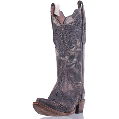 Western Cowboy Boots on Com   Cowboy Boots   Women S Western Boots   Basic Leather Boots
