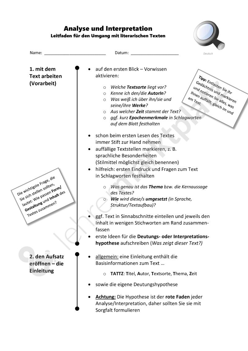 Deutsch analyse schreiben pdf deutsch aufsatz wortwahl