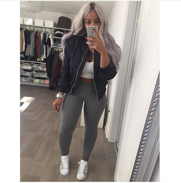 Black Grey White So Qt Clothes In 2019 Fashion