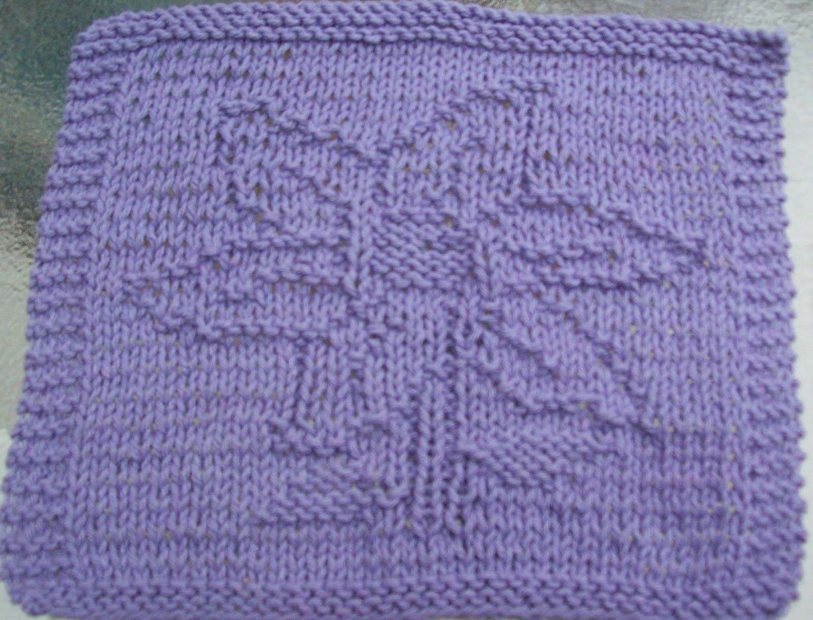 DigKnitty Designs: Flower Too, Knit Dishcloth Pattern | OES ...