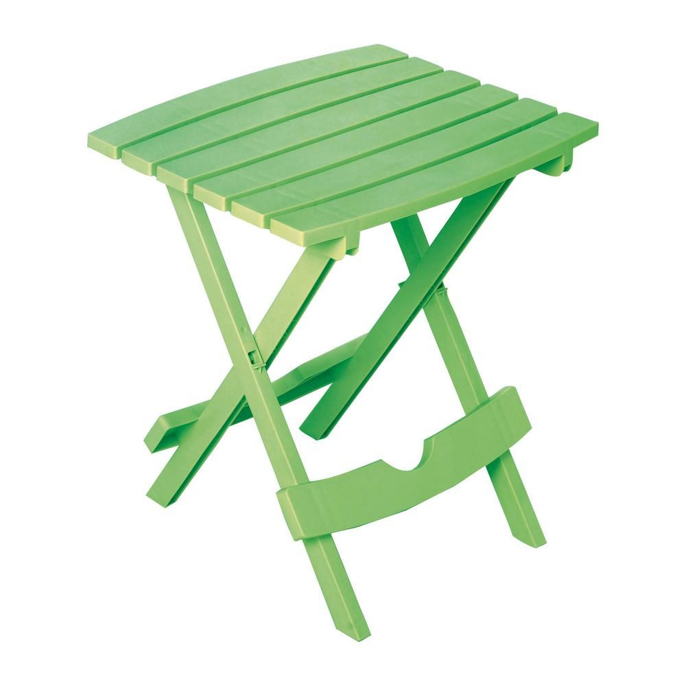 Adams Manufacturing Quik Fold Summer Green Resin Plastic Outdoor