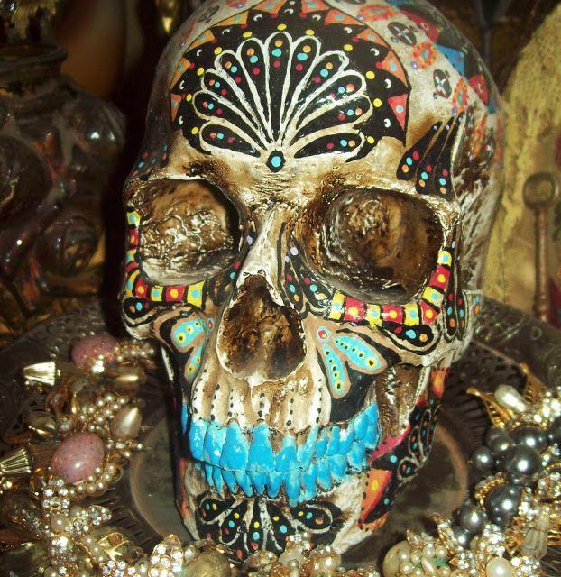 Dia De Los Muertos Skully By Yaqui Artist Ben Molina The
