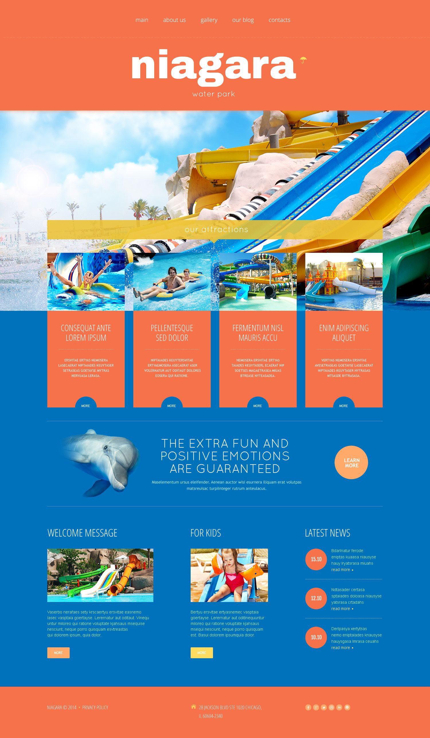 Amusement park responsive wordpress theme pinterest wordpress amusement park wordpress template maxwellsz