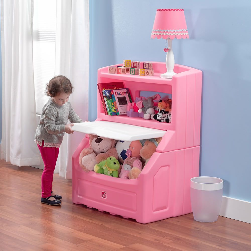 Lift Hide Bookcase Storage Chest Pink With Images Kids Storage Bins Bookcase Storage Kids Bedroom Furniture