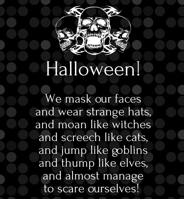 Great Cute Halloween Poems