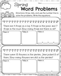 First Grade Worksheets for Spring | Spring words, Math worksheets ...