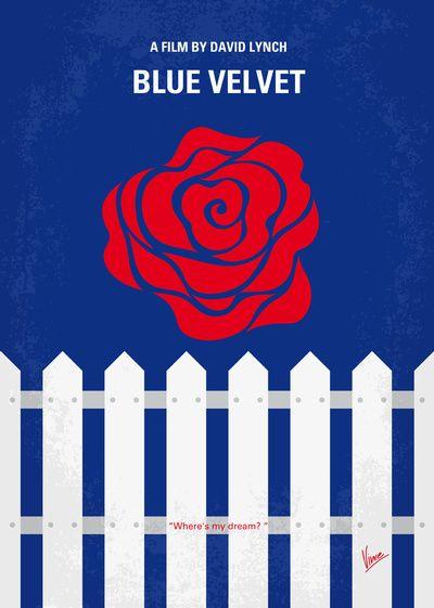 blue velvet minimal movie poster movie posters amp stills