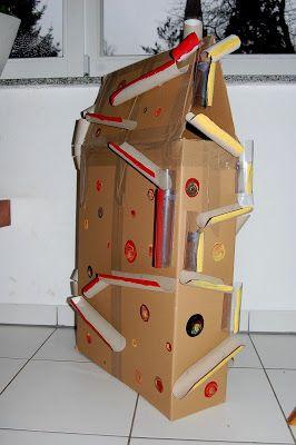 1 karton  gefühlte 200 klorollen  ??? | karton kinder, kugelbahn, murmelbahn