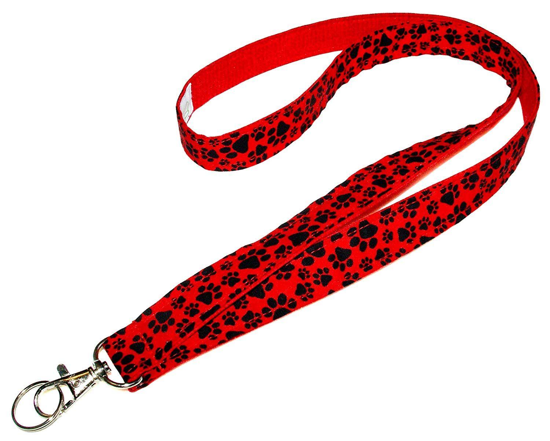 Paw prints lanyard keychain neck strap id