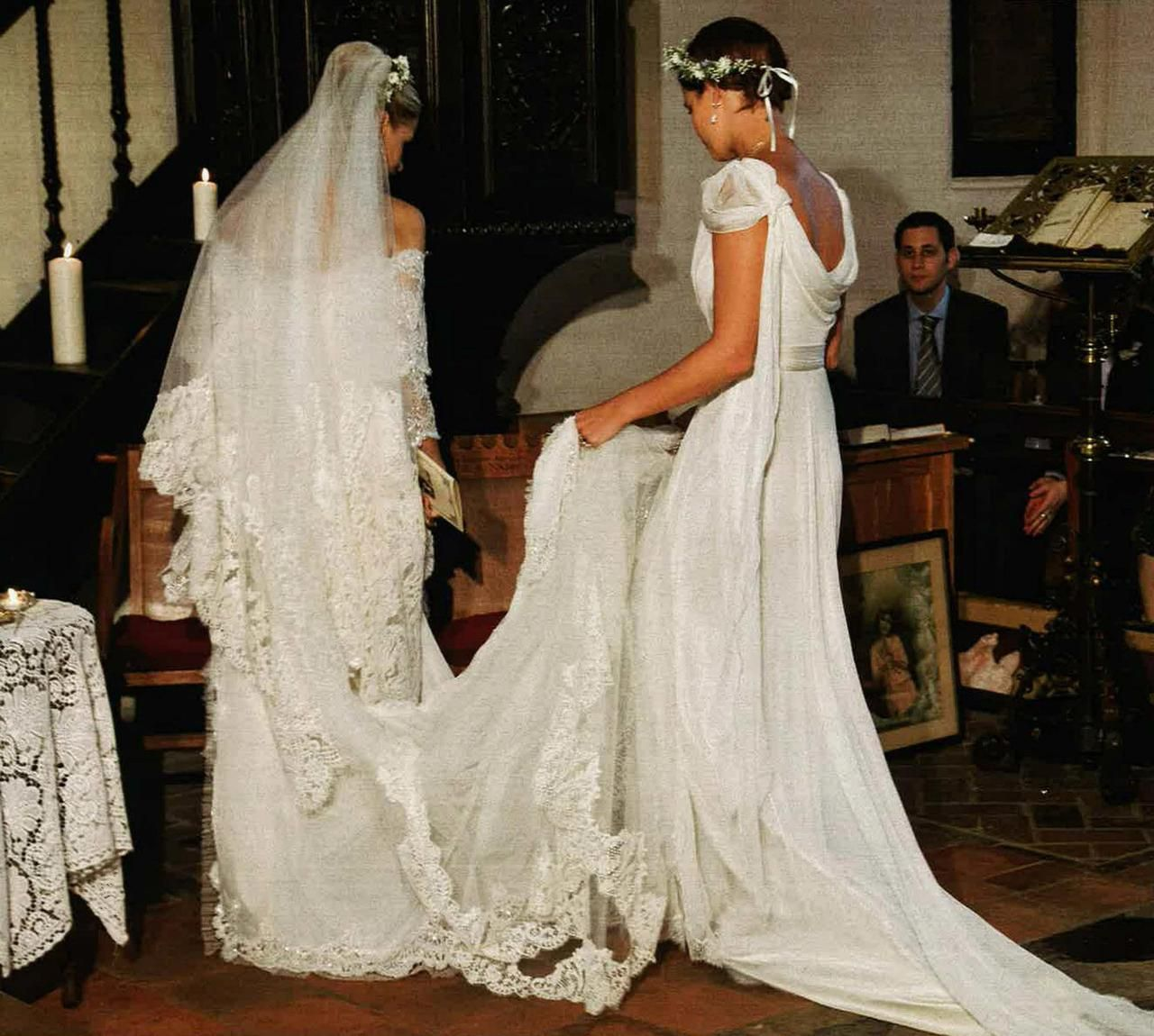 Beautiful Peaches With Her Special Alberta Ferretti Wedding Dress
