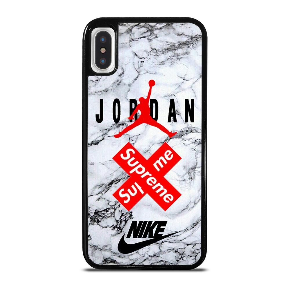 AIR JORDAN MARBLE SUPREME iPhone X / XS Case - Camoucase   Hard ...